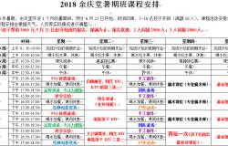 余庆堂2018超炫暑期班开始报名了